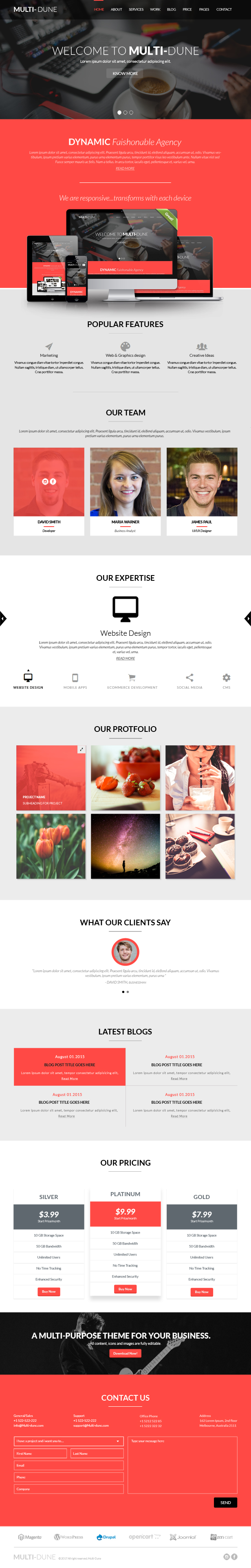 Multi-Dune :: A multipurpose minimal one page responsive html template for all businesses. - 2